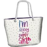 Strandtasche I'm strong I'm a Super Girl
