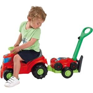 Écoiffier Kindertraktor mit Anhänger Rasenmäher