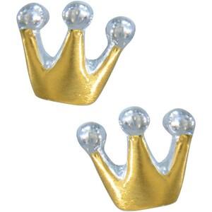 Janusch Kinder Ohrstecker Krone Vergoldet