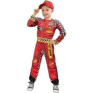 Kunterbunt Kostüm Overall Rennfahrer