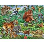 Larsen 3er-Set Rahmen-Puzzle 2930 Teile 28x18 cm Dschungel