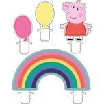 Amscan Mini-Figurenkerzen Peppa Pig 4 Stück