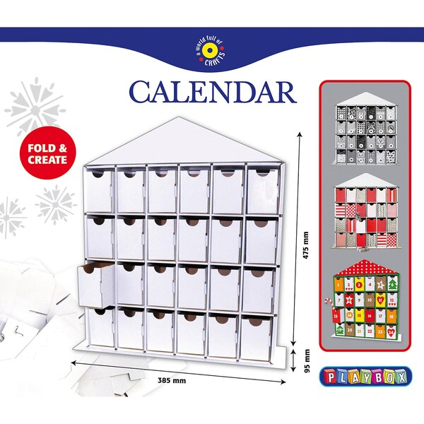 Playbox Bastelset Adventskalender
