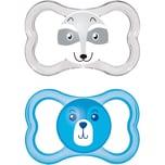 MAM Schnuller Air Silikon Gr. 3 blau 2er Pack