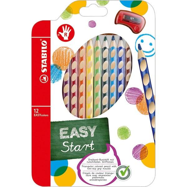 Stabilo Buntstift EASYcolors R inkl. Spitzer 12 Farben