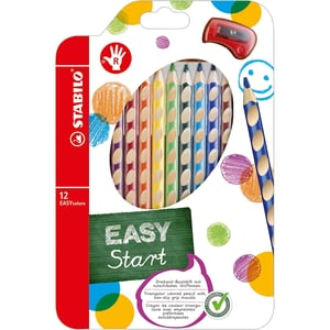 STABILO Buntstifte EASYcolors Rechtshänder inkl. Spitzer 12 Farben