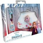 Geschenkset Geldbörse Armbanduhr Disney Die Eiskönigin II