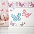 Decofun Wandsticker Schmetterlinge 25 x 70 cm