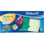 Pelikan Deckfarbkasten ProColor grün 24 Farben inkl. Deckweiß 2 Wasserboxen
