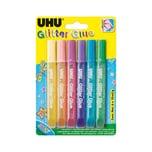 Uhu Glitter Kleber Hell 6 Farben