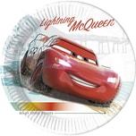 Procos Cars 3 8 Pappteller 23 cm Design Cars High Speed für Industrielle Kompostierung