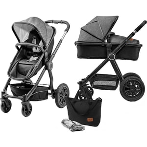 Kinderkraft Kombi Kinderwagen Veo 2in1 schwarzgrau