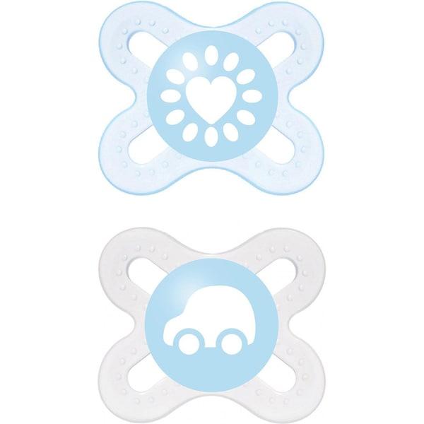 Mam Schnuller Start Silikon Gr. 0 blau 2er Pack