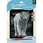 Mammut Spiel und Geschenk Kratzbild Scraper Tiger silber