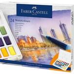 Faber-Castell Künstler-Aquarellfarbkasten 24 Farben inkl. Pinsel