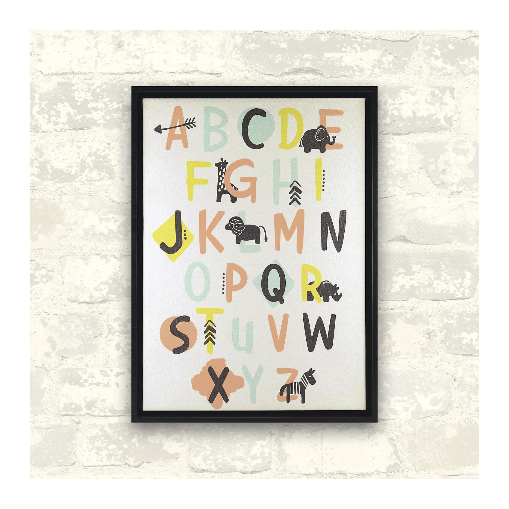 RoomMates Wandbild Alphabet bunt 12 x 15 cm
