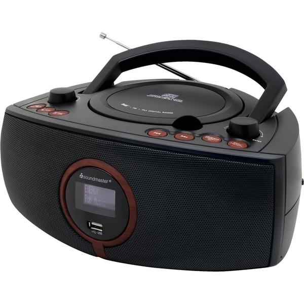 Soundmaster CD/MP3-Player Boombox mit DAB+ Radio schwarz