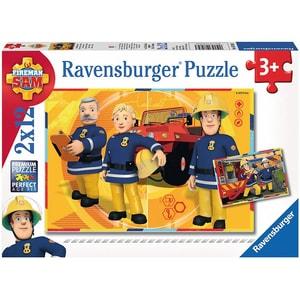 Ravensburger 2er Set Puzzle je 12 Teile 26x18 cm Feuerwehrmann Sam