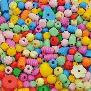 Playbox Holzperlen-Mix pastell 250 g