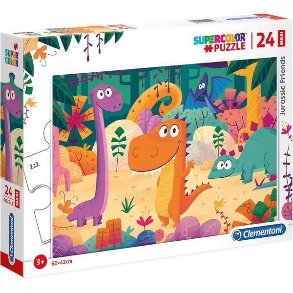 Clementoni Puzzle 24 Teile Maxi Jurassic Friends