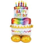Amscan Folienballon AirLoonz Geburtstagskuchen 127 cm