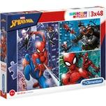 Clementoni Puzzle 3X48 Teile Spiderman