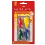 Faber-Castell Kleinkind-Wachsmalkreiden Birnenform 4 Farben