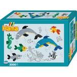 Hama Perlen 3507 Geschenkpackung Delfine 2.000 Midi-Perlen Zubehör