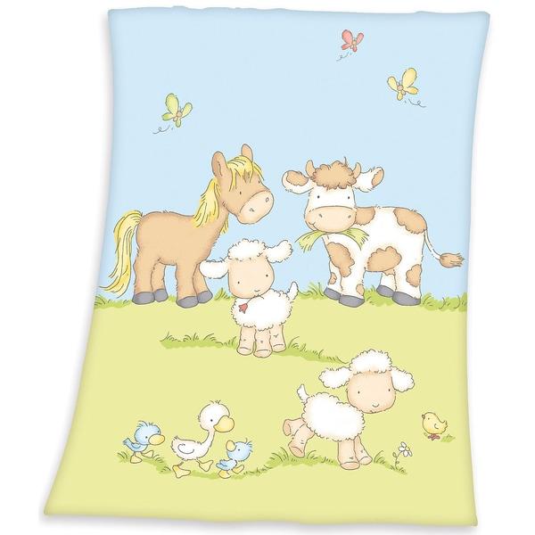 Herding Babydecke Fynn Farmtiere 75 x 100 cm