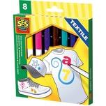 SES Creative Creative Textilmalstifte 8 Farben