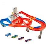 Mattel Hot Wheels Auto-Lift Expressway motorisiertes Spielset inkl. 5 Spielautos Autorennbahn