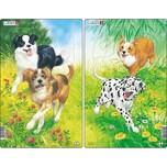 Larsen 3er-Set Rahmen-Puzzle 10 Teile 28x18 cm Hunde