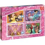 Jumbo 4in1 Puzzle Disney Princess 12/20/30/36 Teile