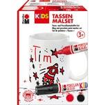 Marabu KiDS Porcelain Glas Painter - Tassen-Set TIM