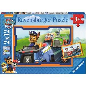 Ravensburger 2er Set Puzzle je 12 Teile 26x18 cm PAW Patrol Patrol im Einsatz