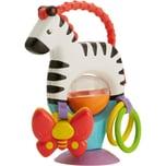 Mattel Fisher-Price Kleines Spiel-Zebra Baby-Spielzeug Beißring Rassel Greifling
