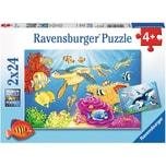 Ravensburger 2er Set Puzzle je 24 Teile 26x18 cm Kunterbunte Unterwasserwelt