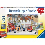 Ravensburger 2er Set Puzzle je 24 Teile 26x18 cm Bei der Feuerwehr