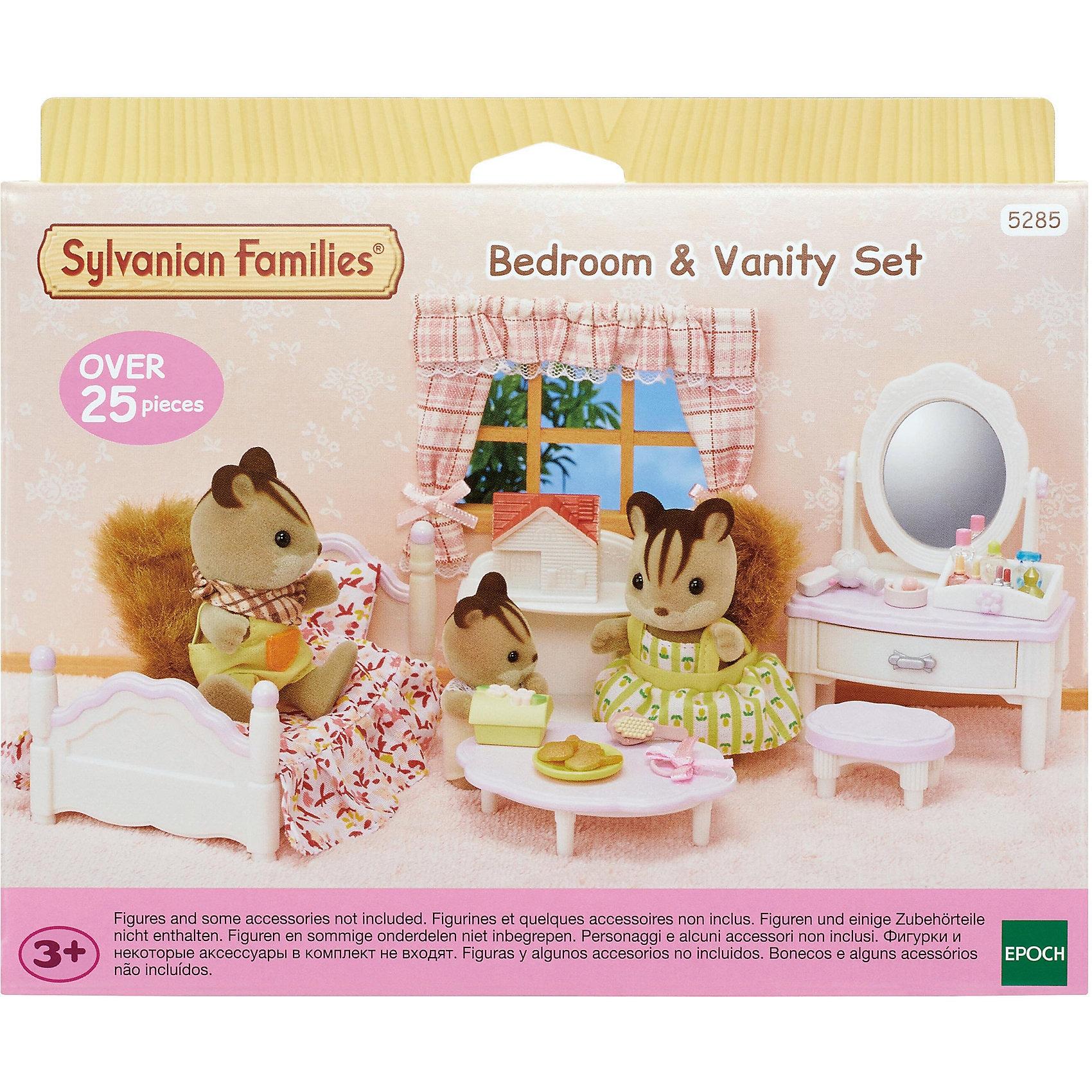 Epoch Traumwiesen Sylvanian Families Schlafzimmer und Schmink-Set