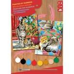 Mammut Spiel und Geschenk 2er Set Malen nach Zahlen - Katzen