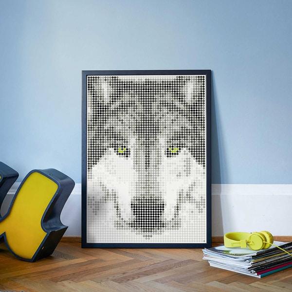 Dot On Dot On Art Wolf 50 X 70 cm