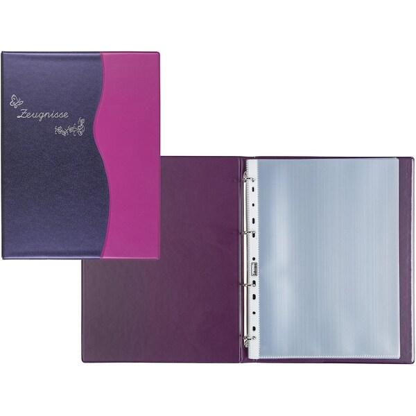 Idena Zeugnisringbuch A4 10 Hüllen Metallic lila