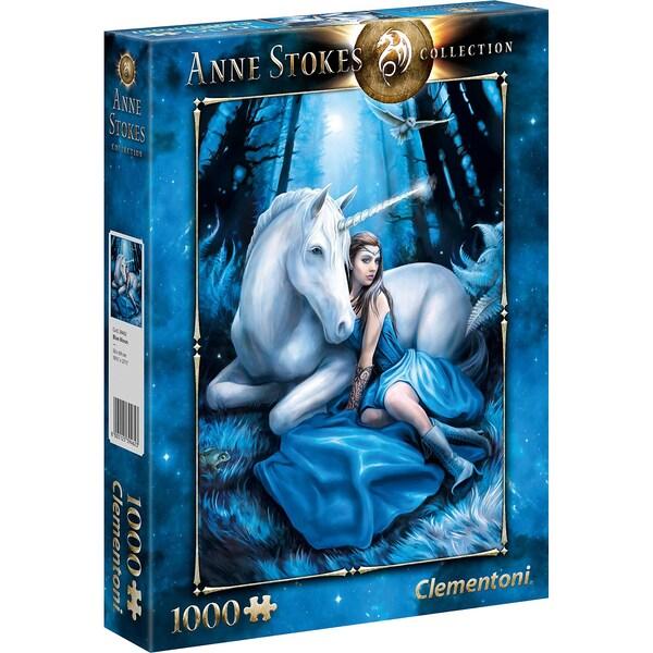 Clementoni Puzzle 1000 Teile Anne Stokes Blue Moon