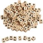 Eduplay Buchstabenwürfel Holz zum Auffädeln 300 Stück
