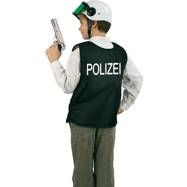 Kunterbunt Polizei-Weste schwarz