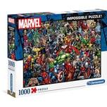 Clementoni Puzzle 1.000 Teile Impossible Puzzle - Marvel Universe
