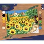 Mammut Spiel und Geschenk Malen nach Zahlen Senior Sonnenblumen