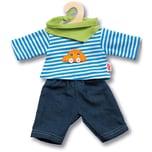 Heless Jeans mit Streifenshirt Gr. 35-45 cm Puppenkleidung