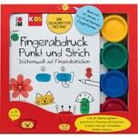 Marabu KIDS Fingerabdruck-Set Buch mit 4 x 35 ml Fingerfarbe