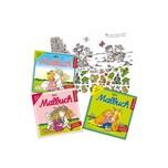 Lutz Mauder Verlag Mini-Malbücher mit Stickern Mädchen 3 Stück